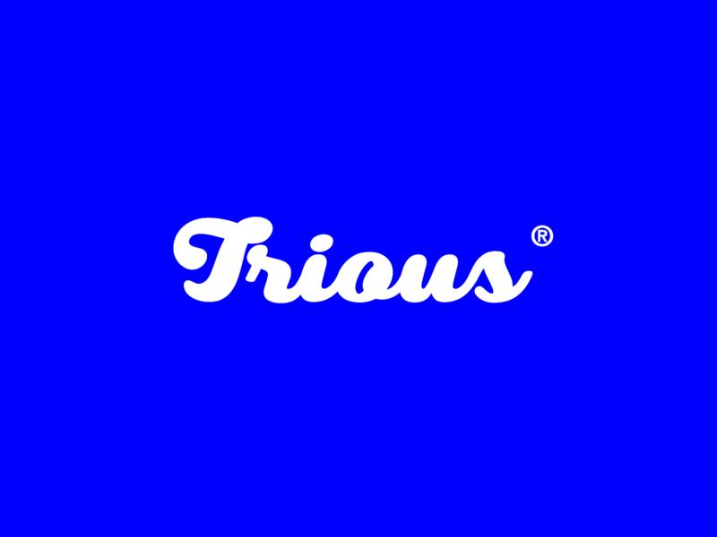 trious logo blue white tybe vector challenge minimal illustrator branding icon logo design