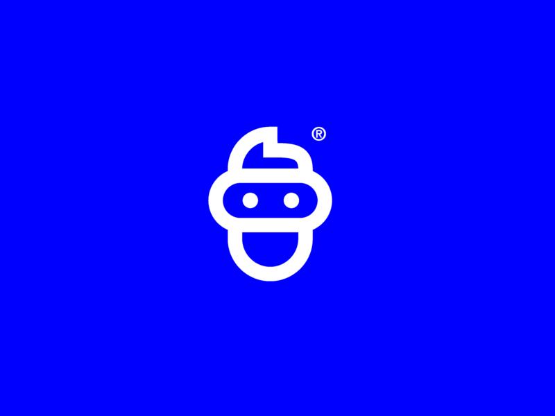 VR Company logo boy visual design vector art vintage vrlogo vr white blue challenge vector minimal illustrator branding logo icon design