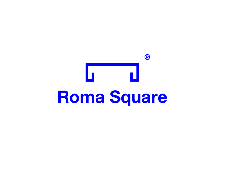 roma square logo logo design graphicdesign illustration challenge vector illustrator minimal design branding logo icon