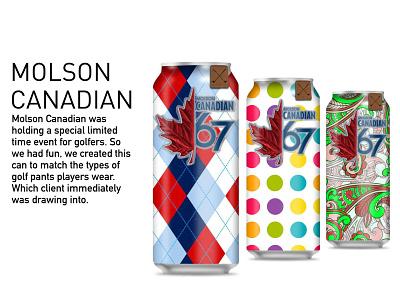 Molson Canadian Cans branding design illustration advertising design