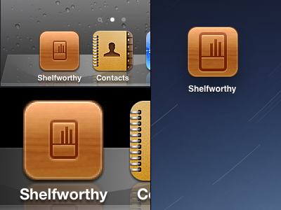 iOS icon refinement ios shelfworthy wood icon web clip