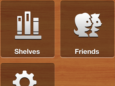 Main Menu... Supersized iphone4 shelfworthy wood menu icons