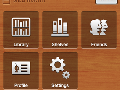 Main Menu small icons menu shelfworthy wood
