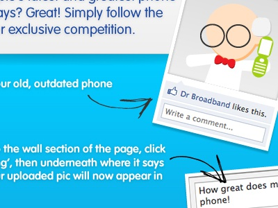 Dr Broadband blue vag rounded facebook competition ilustration