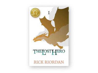 The Lost Hero Cover - The Heroes of Olympus bookcover book dribbbleweeklywarmup illustration design