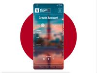 Concept Travel 2 Japan App - Sign Up Form adobexd createwithadobexd form signup travel japan minimal mobile app ux ui logo design