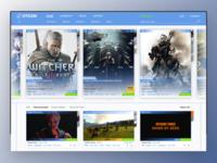 Steam Store UI reDesign 2.0 gaming store website steam web ux ui design