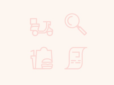 Food Delivery Icons ui icons illustrator vector illustration