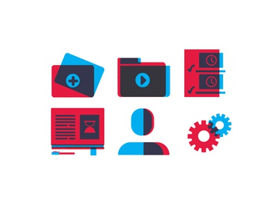 Youtube Icons illustrator vector icons blue red youtube