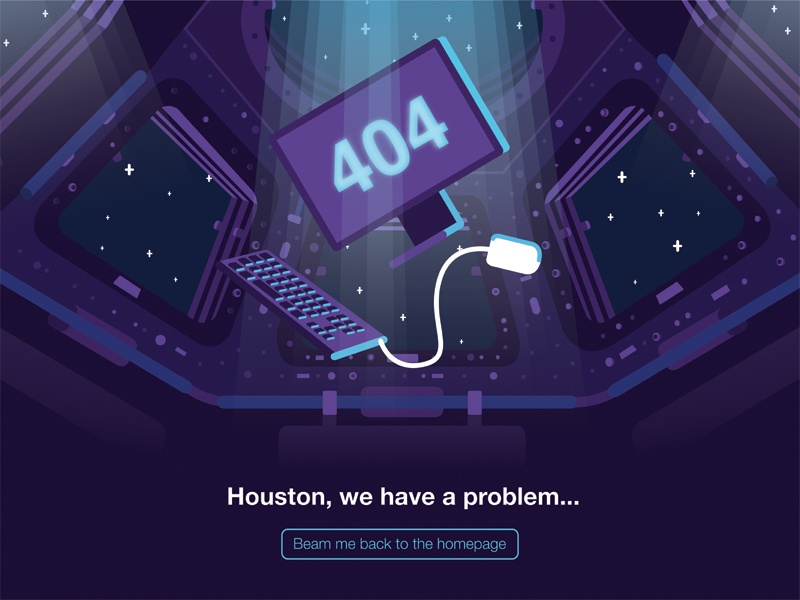 404 space page interface web illustration ux ui stars space background illustrator 404