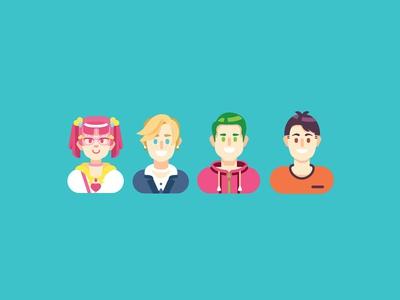 Profile Shots  profile girls illustration boys illustrator vector