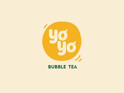 Yoyo Bubble Tea - Logo bubble tea branding logo