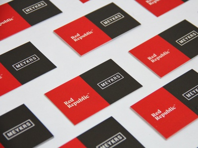 Perforated Name Card design branding name card