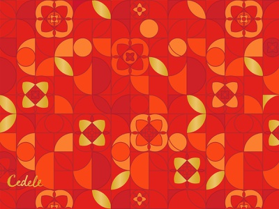 CNY Pattern for Cookie Packaging red graphic cookie pattern packaging
