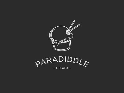 Gelato Logo food minimal ice cream gelato logo branding