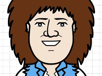 Justin (80's hair metal) vector animation documentary