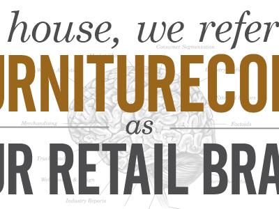 """…our retail brain."" poster type illustration"