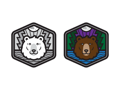 Grizzly Goods badge grizzly badge mark logo