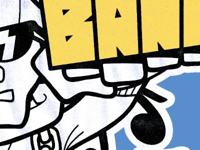 Bane T-Shirt illustration shirt bane texture screen print knuckle ring
