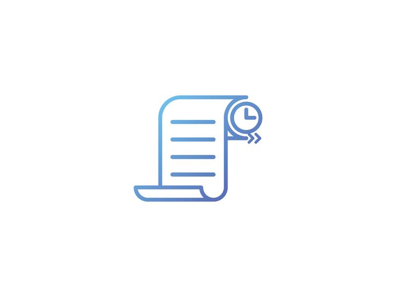 Logo design for a company. gradation blue symbol icon logo