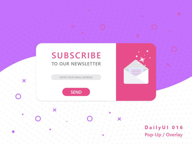 #DailyUI 016 - Pop-Up / Overlay