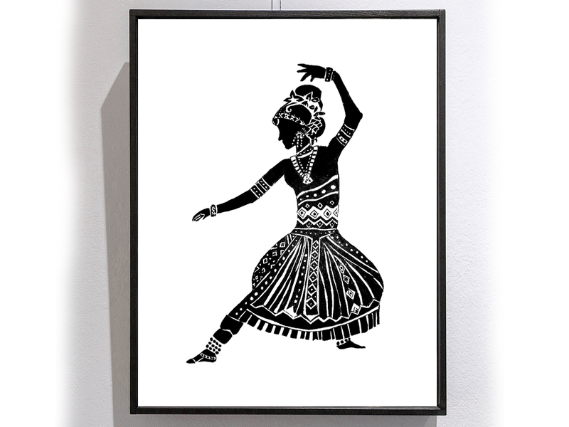 Pen Sketch - Bharatanatyam dance classical branding bharatnatyam portrait character illustration design creative artwork art 2d