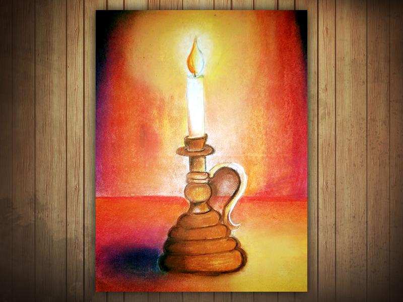 Candle - Still Life still life illustration design creative artwork art 2d