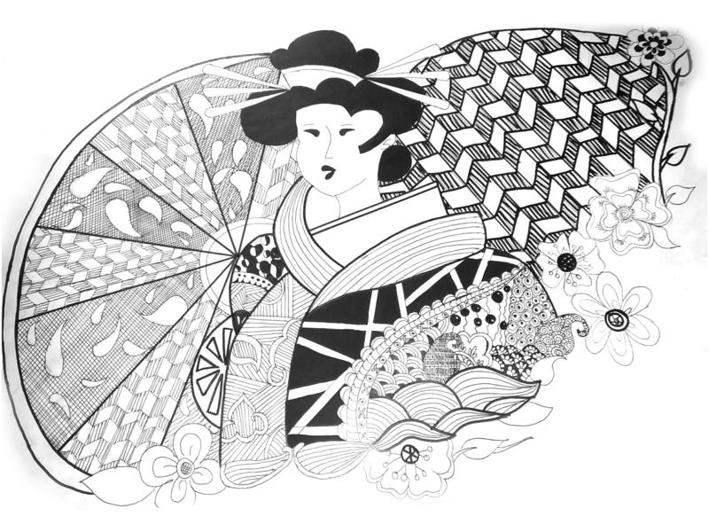 Zen Tangle Art zentangle sketch portrait character illustration design creative artwork art 2d