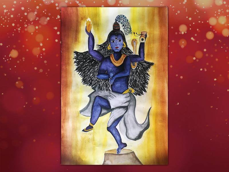 Natraj acrylic painting painting character illustration 2d design creative artwork art