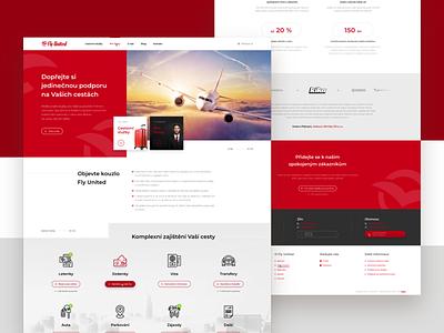 Fly United Webdesign - UX / UI transport services travel fly united design webdesign critical works