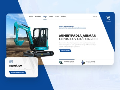 Norwit Webdesign - UX / UI rental critical works tools machinery webdesign norwit