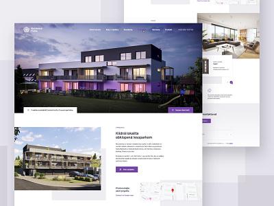 Rezidence Fialka Webdesign - UX / UI akro real fialka building flat real estate critical works webdesig