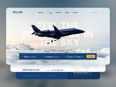 Eclair Webdesign - UX / UI aircraft flying aviation eclair netservis webdesign