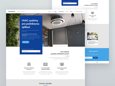 Eko Komfort Webdesign - UX / UI heat pump air conditioner webdesign critical works eko komfort
