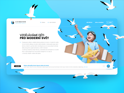 ZŠ Livingston Webdesign - UX / UI education kids school elementary school webdesign critical works