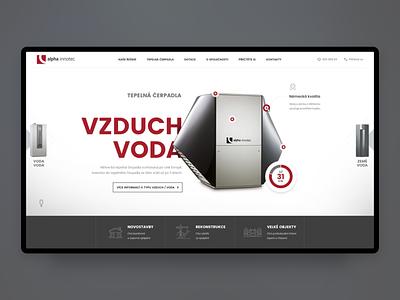 Alpha Innotec Webdesign - UX / UI heating heat pumps alpha innotec webdesign critical works