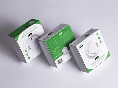 Rex Concept - Product packaging smoke detector iot rex packaging design packaging product critical works