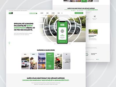 Rex Webdesign - UX / UI gps monitoring tracking security rex webdesign critical works