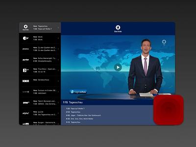 Livestreams 2.0 channels streams tv ui livestreams ipad iphone ios interface icon design app