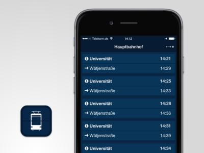 Tram icon interface app ios iphone ipad