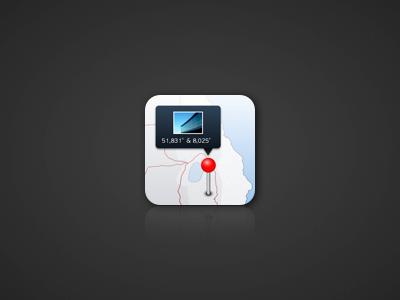 Location Icon icon iphone ios app design gps location