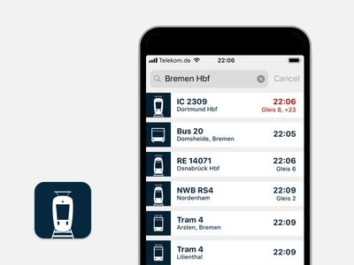 Abfahrten interface icon ipad iphone ios app public transport public transportation