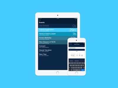 Rechtzeitig ipad iphone ios interface app