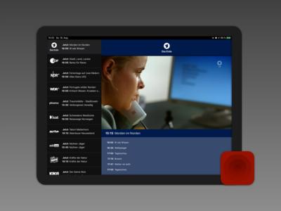 Livestreams video livestreams tv ui interface ipad iphone ios app icon design