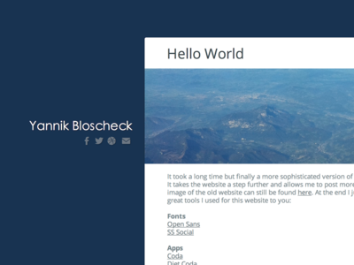 Personal Website website web design personal private