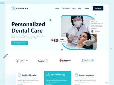 Dental Service Landing Page clinic pharmacies centenary clinics dental clinics medical laboratories cosmetic surgery centers doctors consultation centers hospitals doctors clinics dental practices health services dental services medical ui design website typography ui ux template design