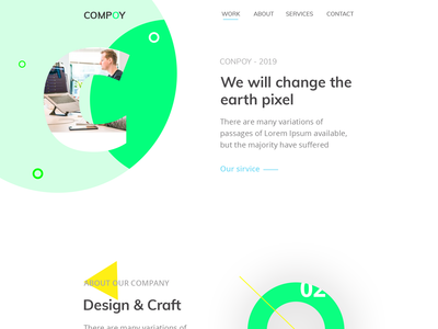 Design Agency website layout