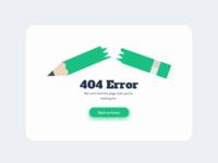404 Page Design Concept