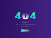 404 Error Page Design