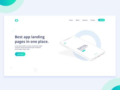 App Landing page Design Concept